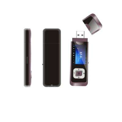 MP3 Player with Dual Earphone Jack, Pink