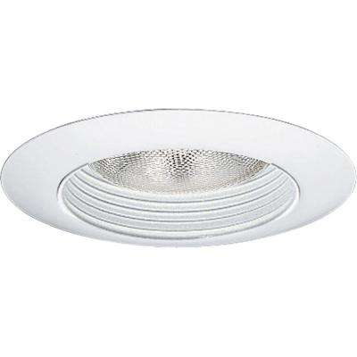 6 in. White Recessed Step Baffle Trim