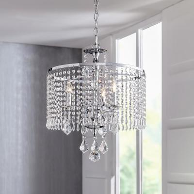 Calisitti 3-Light Polished Chrome Chandelier with K9 Crystal Dangles