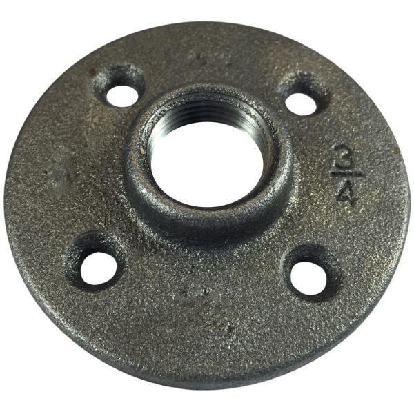 3/4 in. FPT Black Iron FPT Floor Flange