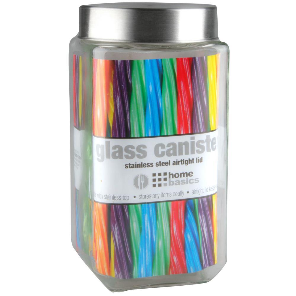 67 Oz. X-Large Square Glass Jar
