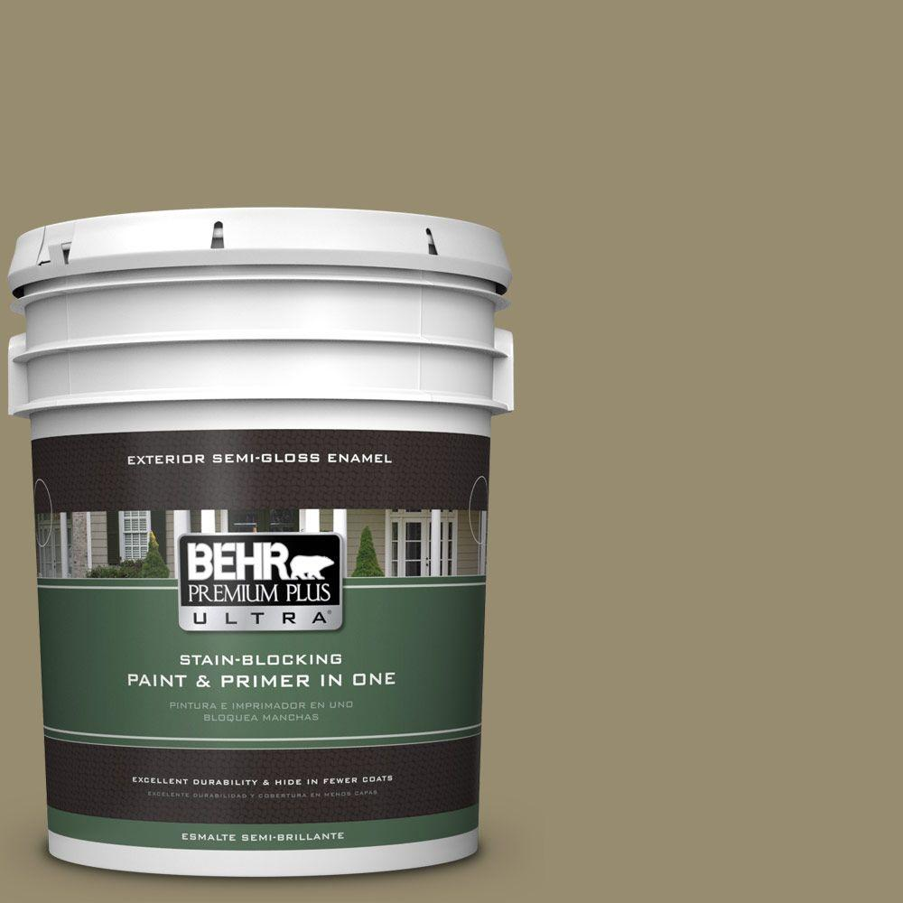 BEHR Premium Plus Ultra 5-gal. #PPU8-4 Urban Safari Semi-Gloss Enamel Exterior Paint