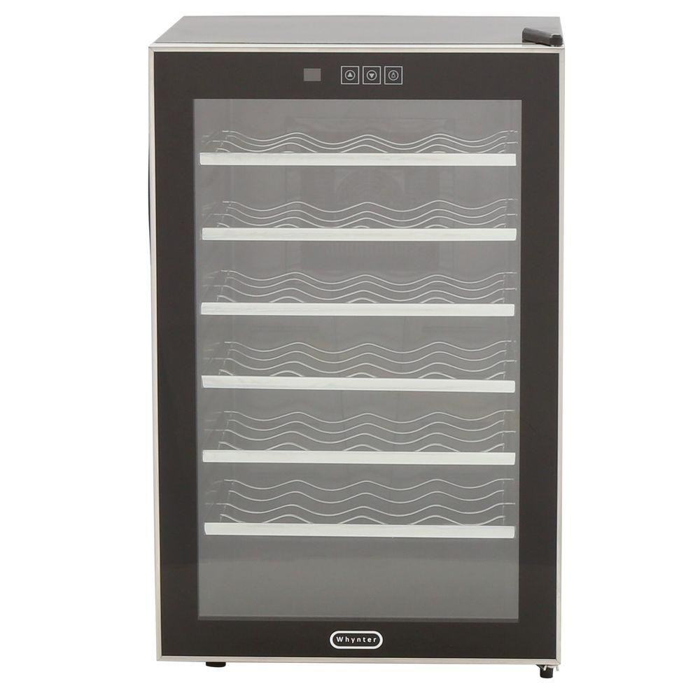 Whynter 28-Bottle Touch Control Stainless Steel Wine Cool...