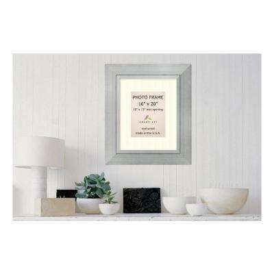 Romano 10 in. x 13 in. White Matted Silver Picture Frame