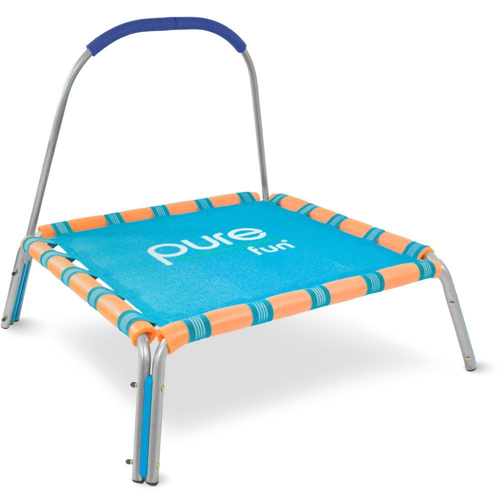 Pure Fun Kids Jumper 38 in. Bungee Trampoline With Handrail