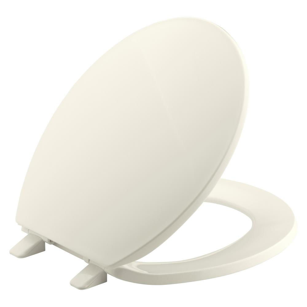 KOHLER Brevia Round Toilet Seat with Q2 Advantage in Biscuit