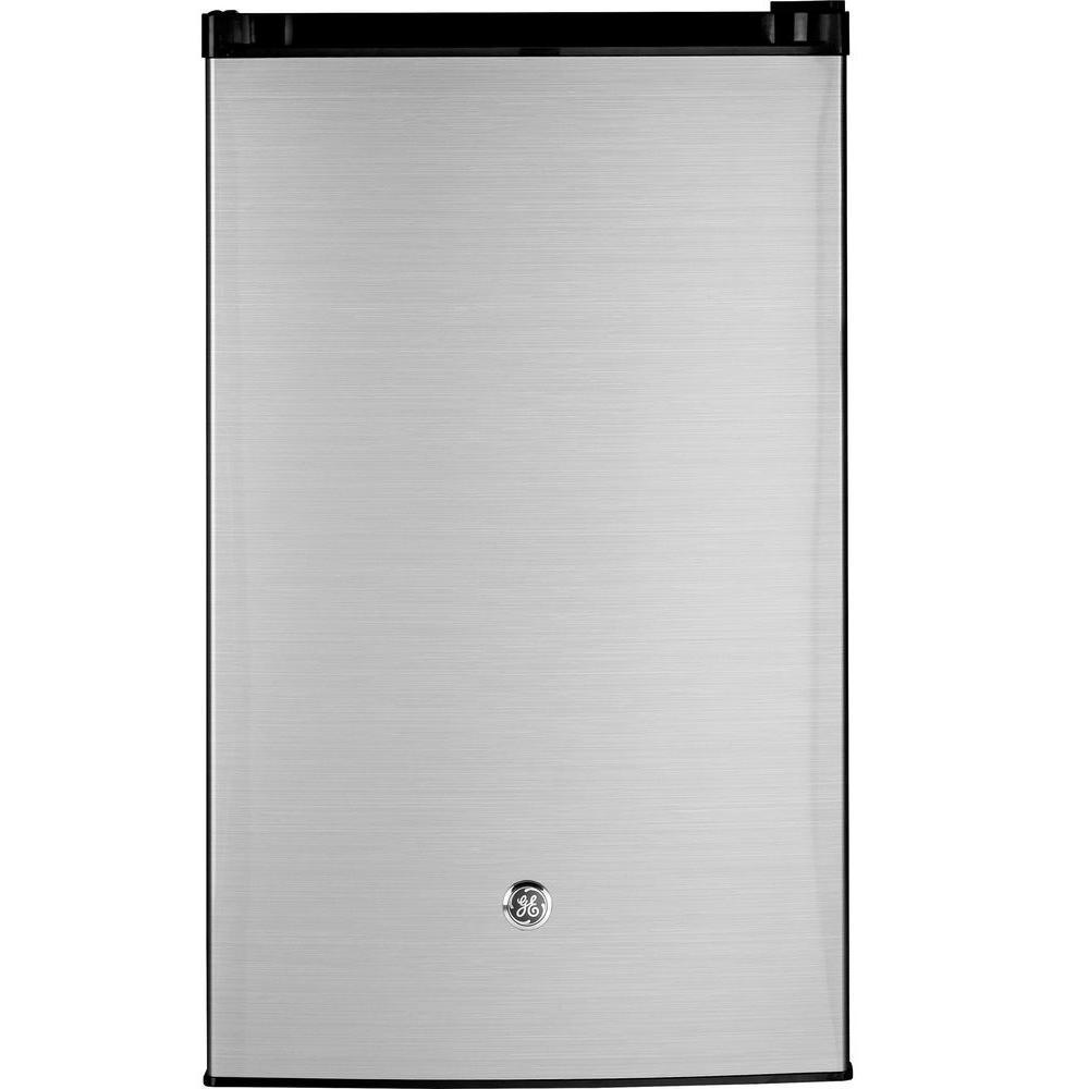 bae92981737 GE 4.4 cu. ft. Mini Fridge in Clean Steel-GME04GLKLB - The Home Depot