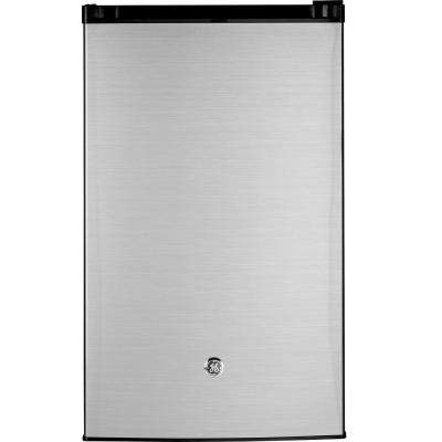 4.4 cu. ft. Mini Refrigerator in Clean Steel