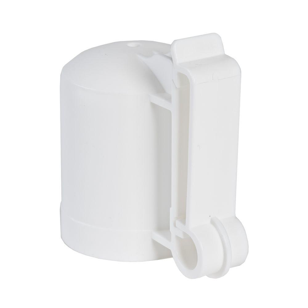 White T-Post Safety Cap and Insulator (10 per Bag)