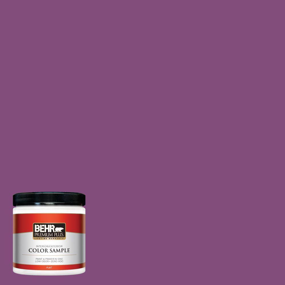 8 oz. #T15-12 Graphic Grape Zero VOC Interior/Exterior Paint Sample