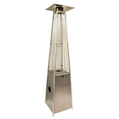 40,000 BTU Quartz Glass Tube Stainless Steel Propane Patio Heater