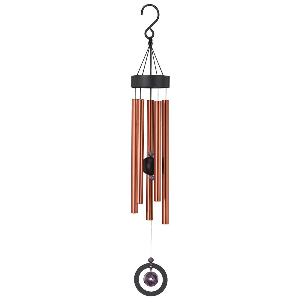 Regal Precision-Tuned Healing Stone 32 in. Wind Chime - Amethyst