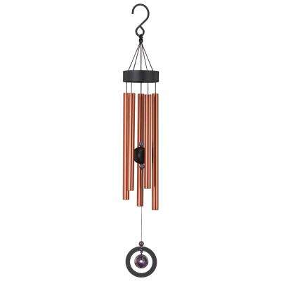 Precision-Tuned Healing Stone 32 in. Wind Chime - Amethyst