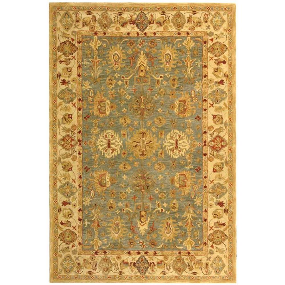 Safavieh Anatolia Blue Ivory 5 Ft X 8 Ft Area Rug An547a