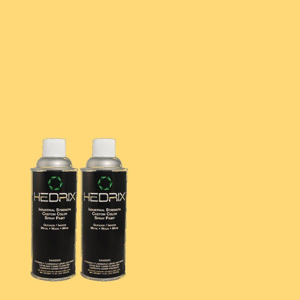 Hedrix 11 oz. Match of 350B-6 Wildflower Honey Semi-Gloss Custom Spray Paint (2-Pack)
