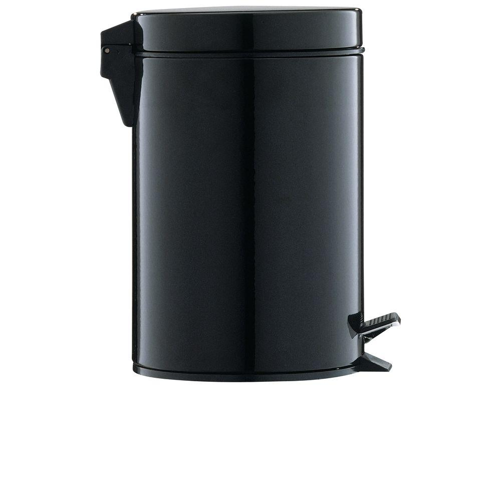 Neu Home 0.75 gal. Black Step-On Touchless Trash Can