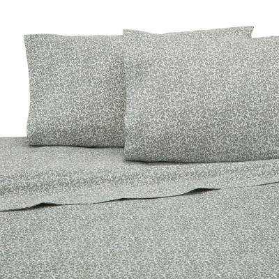 225 Thread Count Sage Cotton Queen Sheet Set