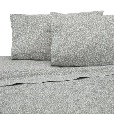 4-Piece Sage Solid 225 Thread Count Cotton Blend Full Sheet Set