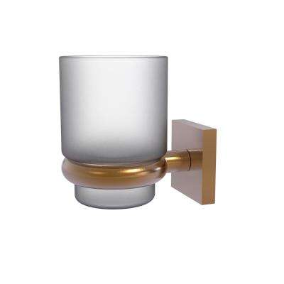 Montero Collection Wall Mounted Tumbler Holder in Brushed Bronze