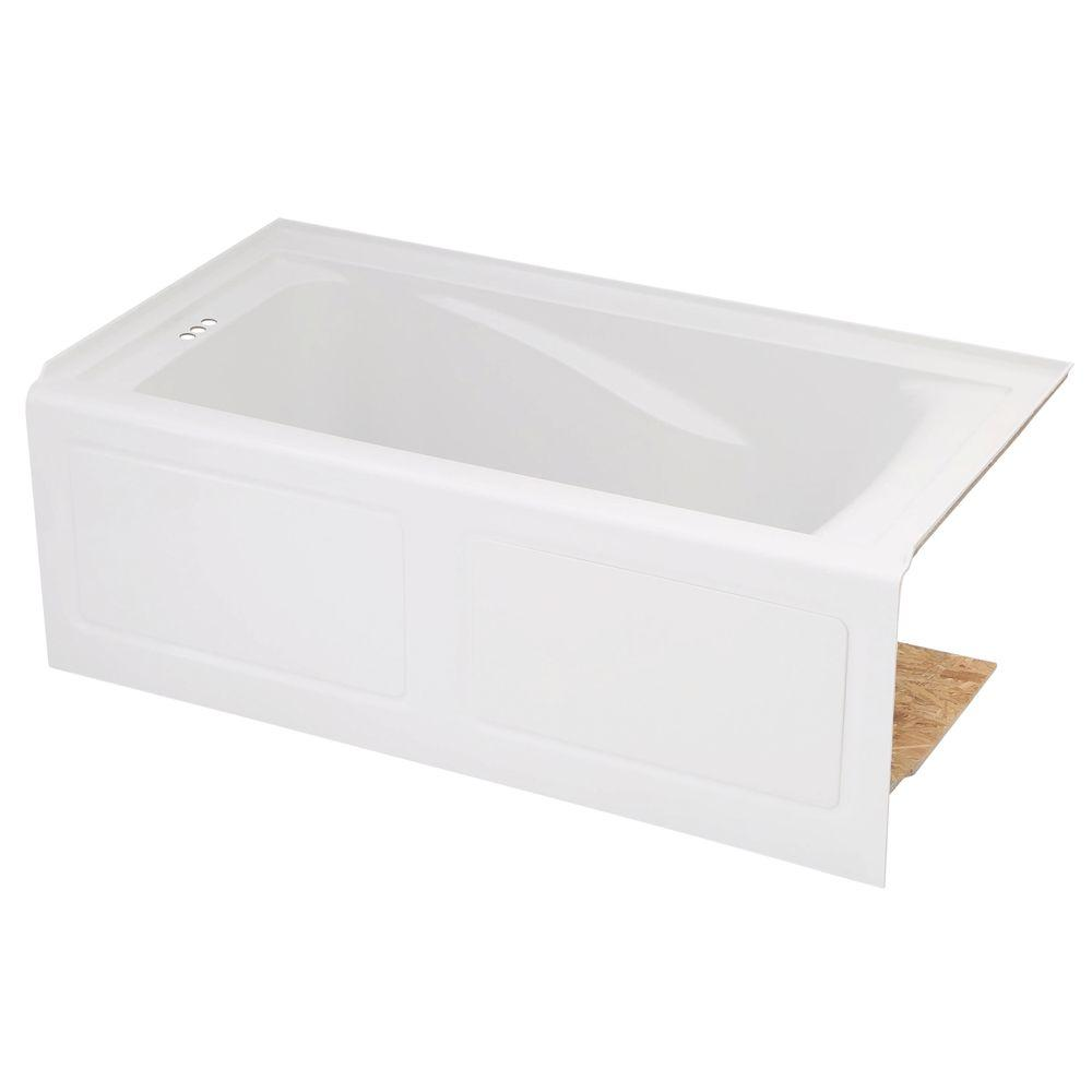 American Standard EverClean 60 In. X 32 In. Left Drain Soaking Tub In White