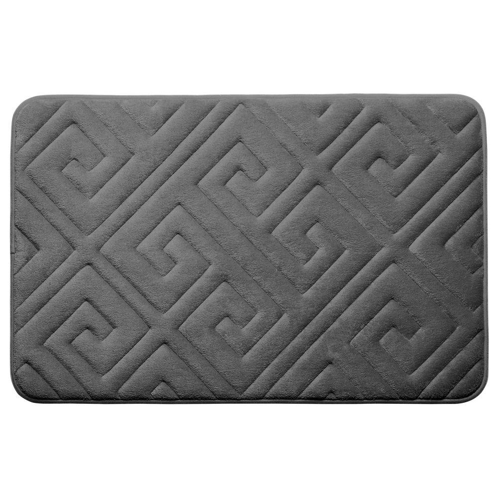 Caicos Dark Gray 20 in. x 32 in. Memory Foam Bath