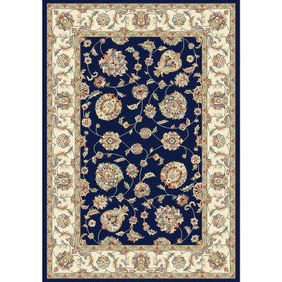 Judith Blue/Ivory 5 ft. 3 in. x 7 ft. 7 in. Indoor Area Rug