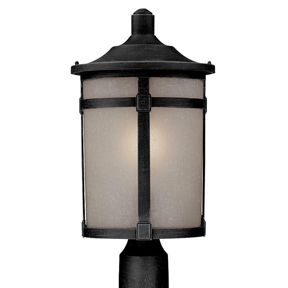Beyer 1-Light Outdoor Rich Black Post Light
