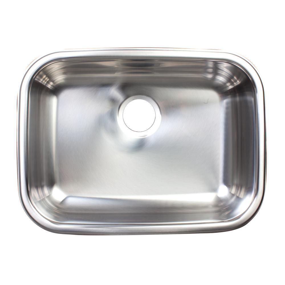 Essentials Undermount Stainless Steel 23 in. Single Bowl Kitchen Sink in Satin Stainless Steel