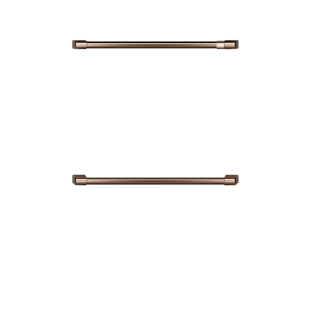 Cafe 30 in. Double Wall Oven Handles in Brushed Copper