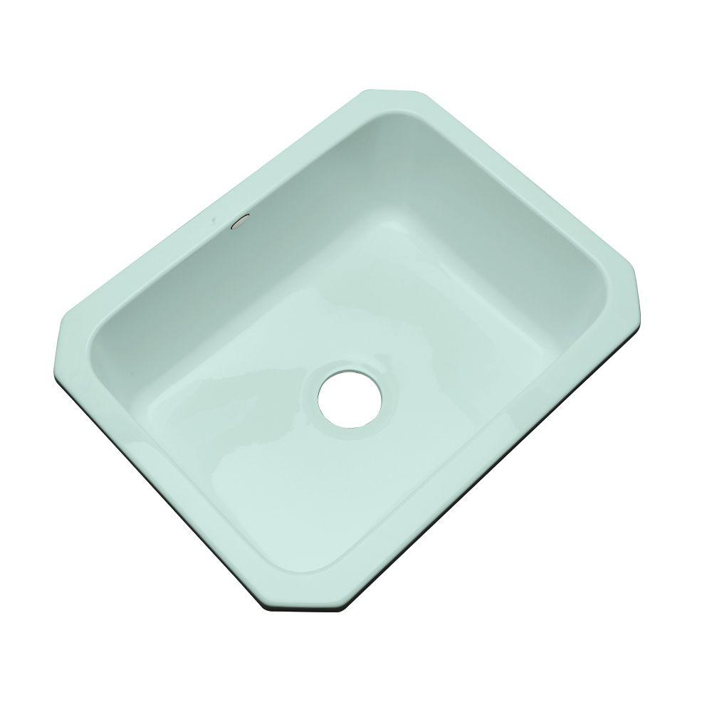 Thermocast Inverness Undermount Acrylic 25 in. Single Basin Kitchen Sink in Seafoam Green