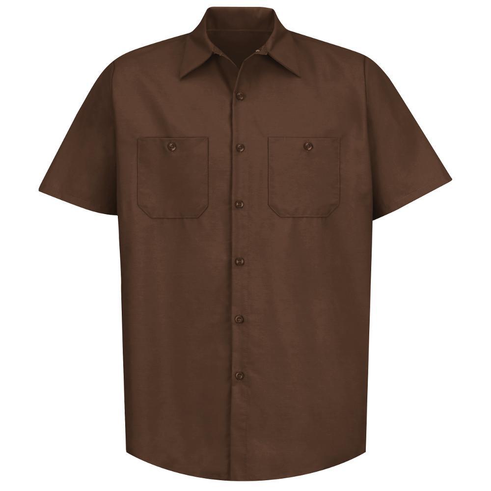 Men's Size M Chocolate Brown Industrial Work Shirt