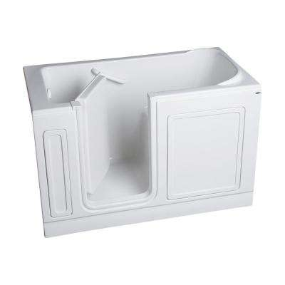 Acrylic Standard Series 60 in. x 32 in. Rectangle Left Hand Walk-In Soaking Tub in White