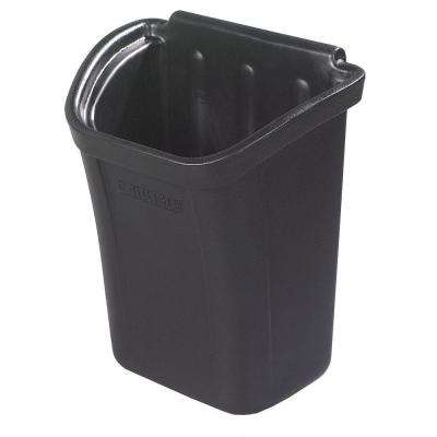 7 Gal. Black Trash Bin for Bussing Cart
