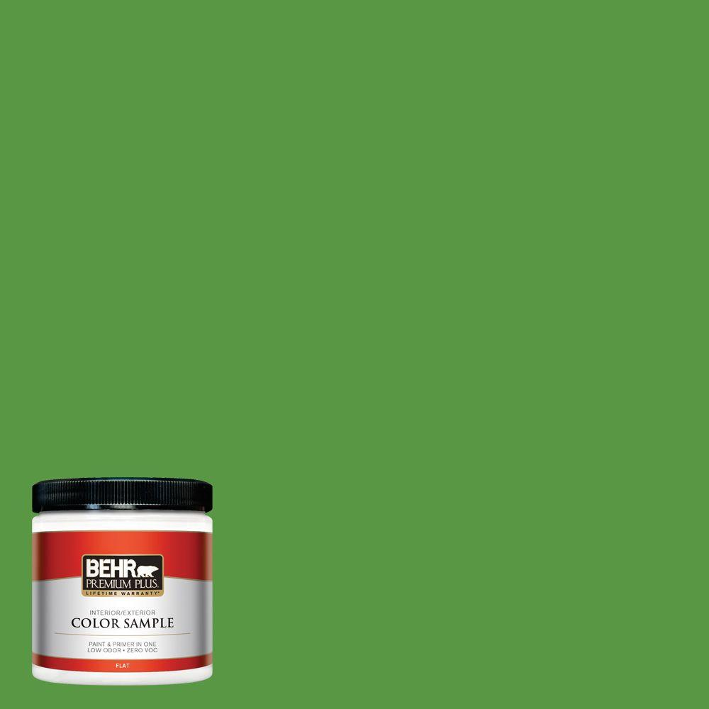 BEHR Premium Plus 8 oz. #430B-7 Cress Green Interior/Exterior Paint Sample