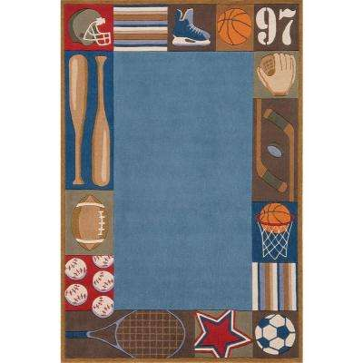 Caprice Collection Blue 4 ft. x 6 ft. Indoor Area Rug