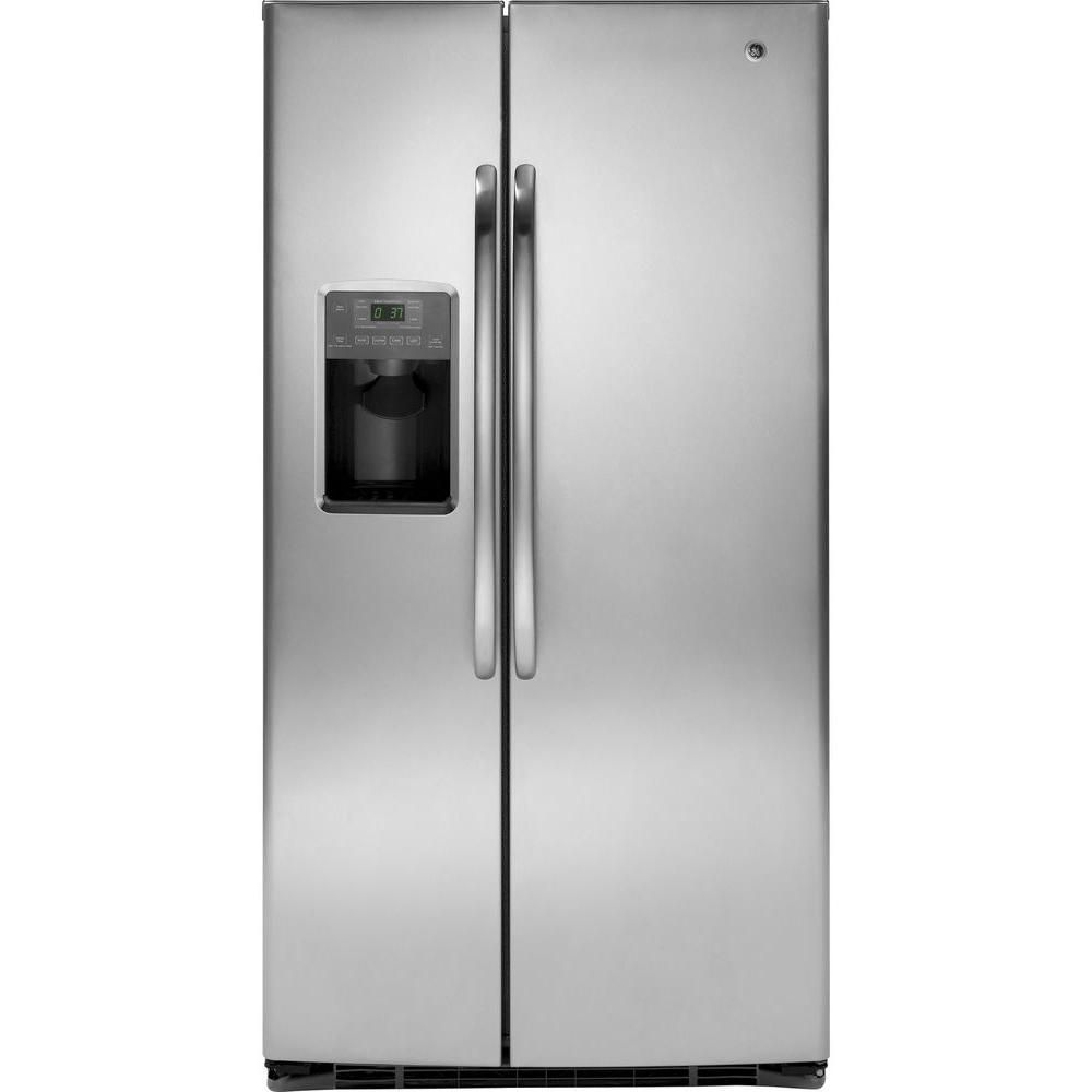 GE 25.9 cu. ft. Side by Side Refrigerator in Stainless Steel