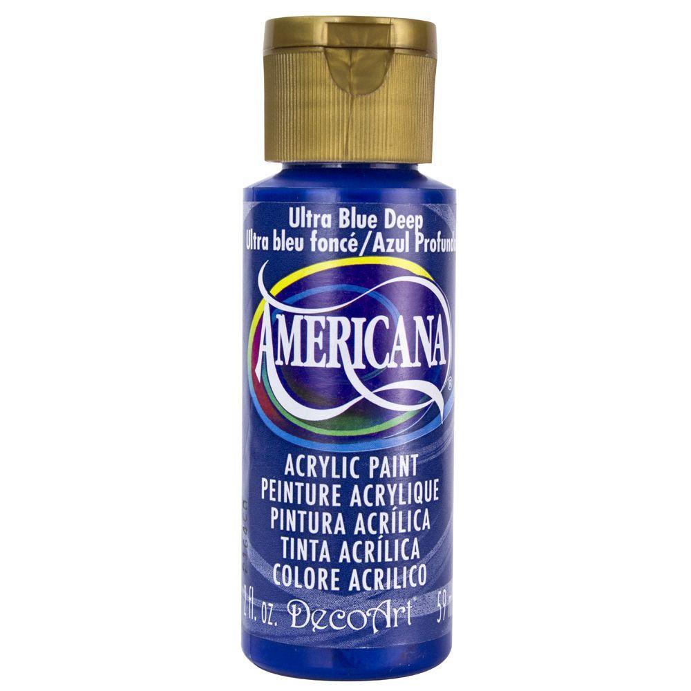 DecoArt Americana 2 oz. Ultra Deep Blue Acrylic Paint