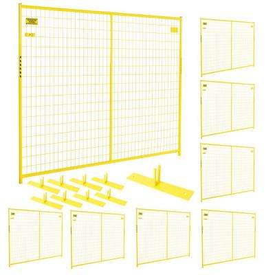 6 ft. x 58 ft. 8-Panel Yellow Powder-Coated Welded Wire Temporary Fencing