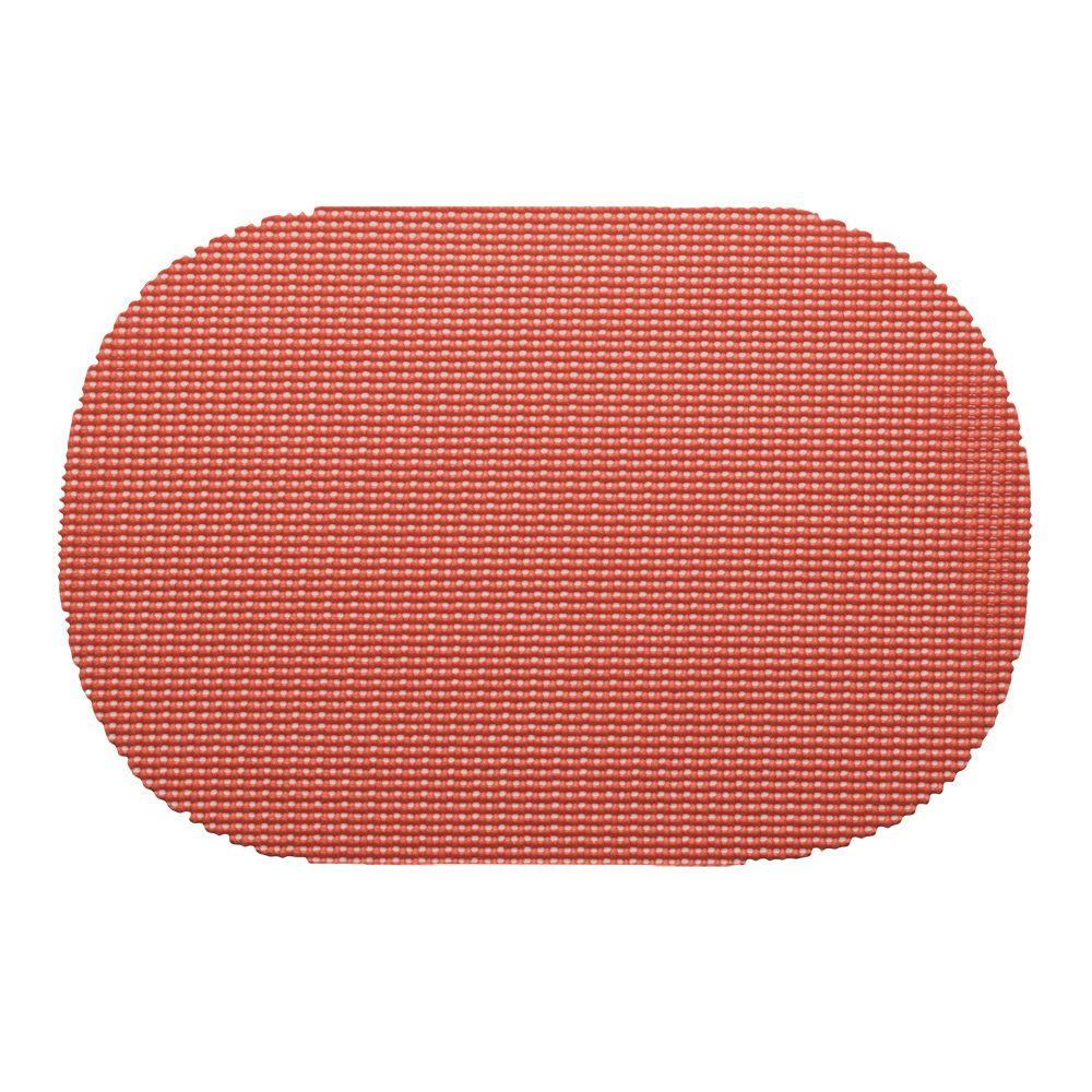 Kraftware Fishnet Oval Placemat in Brick (Set of 12)