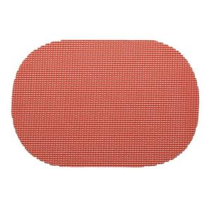 Kraftware Fishnet Oval Placemat in Brick (Set of 12) by Kraftware