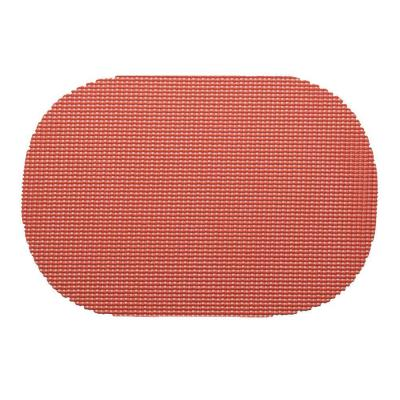 Fishnet Oval Placemat in Brick (Set of 12)