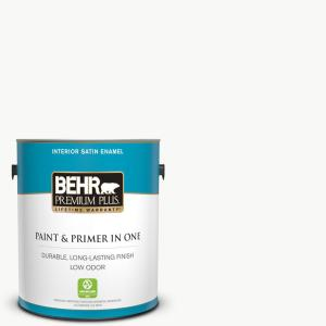 1 gal. Ultra Pure White Satin Enamel Low Odor Interior Paint and Primer in One
