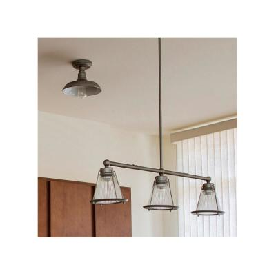 Kimball 1-Light Galvanized Steel Indoor Ceiling Mount