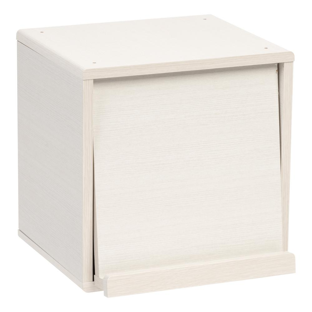 Kuda Series White Pine Wood Storage Cube with Pocket Door