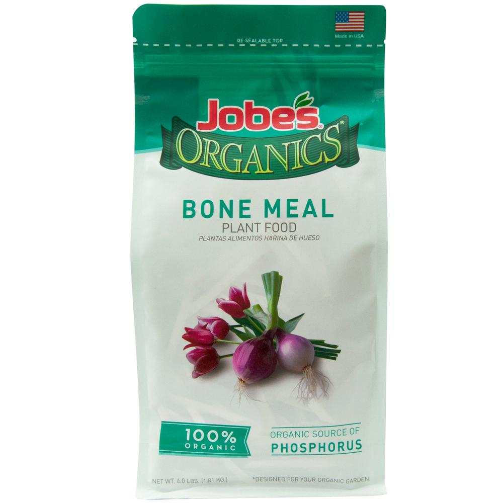 Jobe's Organics 4 lb. Organic Bone Meal Plant Food Fertilizer, OMRI Listed