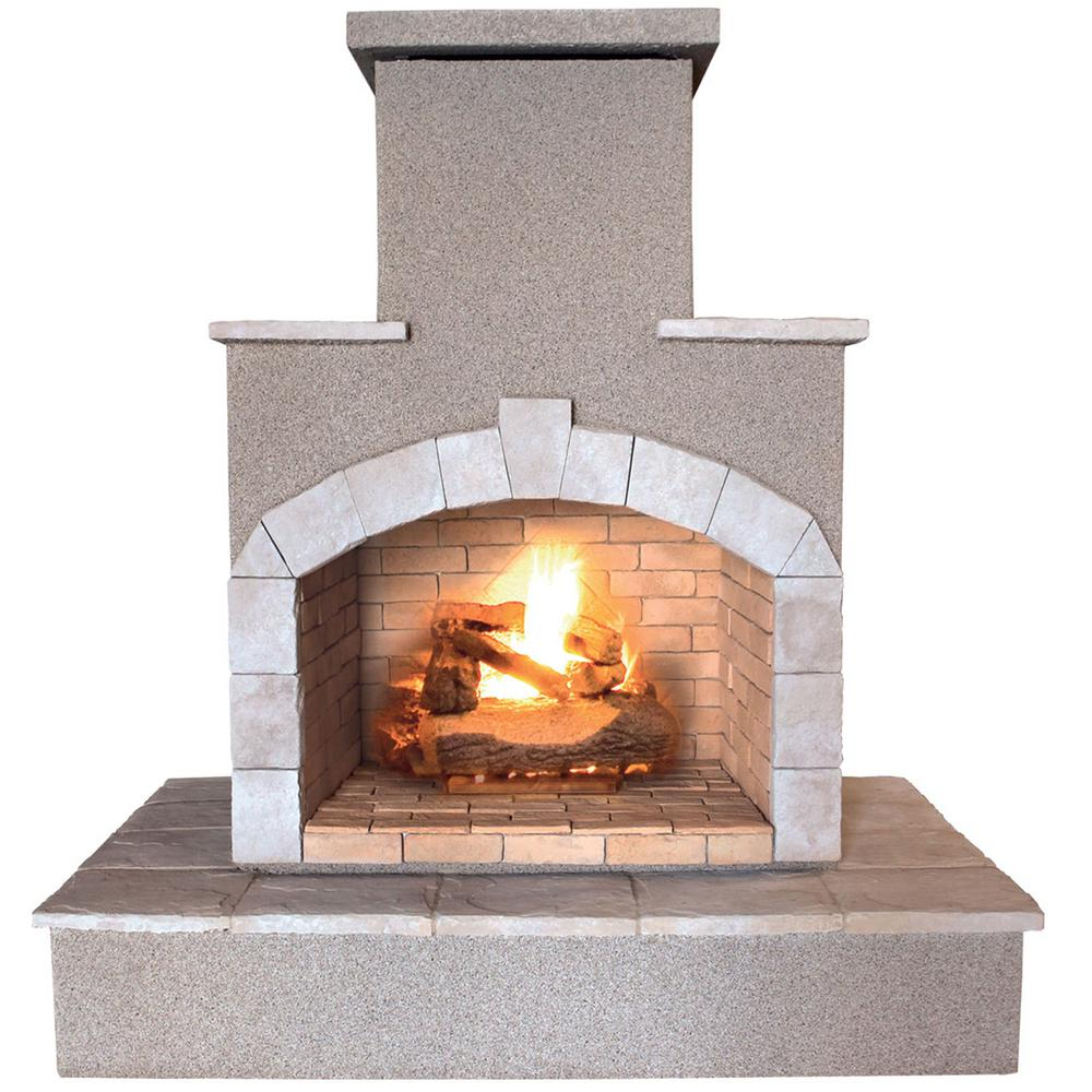 Cal Flame 78 In Propane Gas Outdoor Fireplace Frp908 3 1 The Home