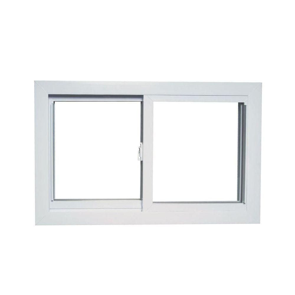 35.75 in. x 23.25 in. 8700 Series Reversible Sliding Vinyl Window