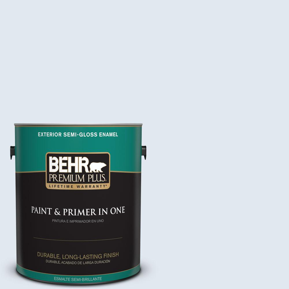 BEHR Premium Plus 1-gal. #M540-1 Bellflower Blue Semi-Gloss Enamel Exterior Paint