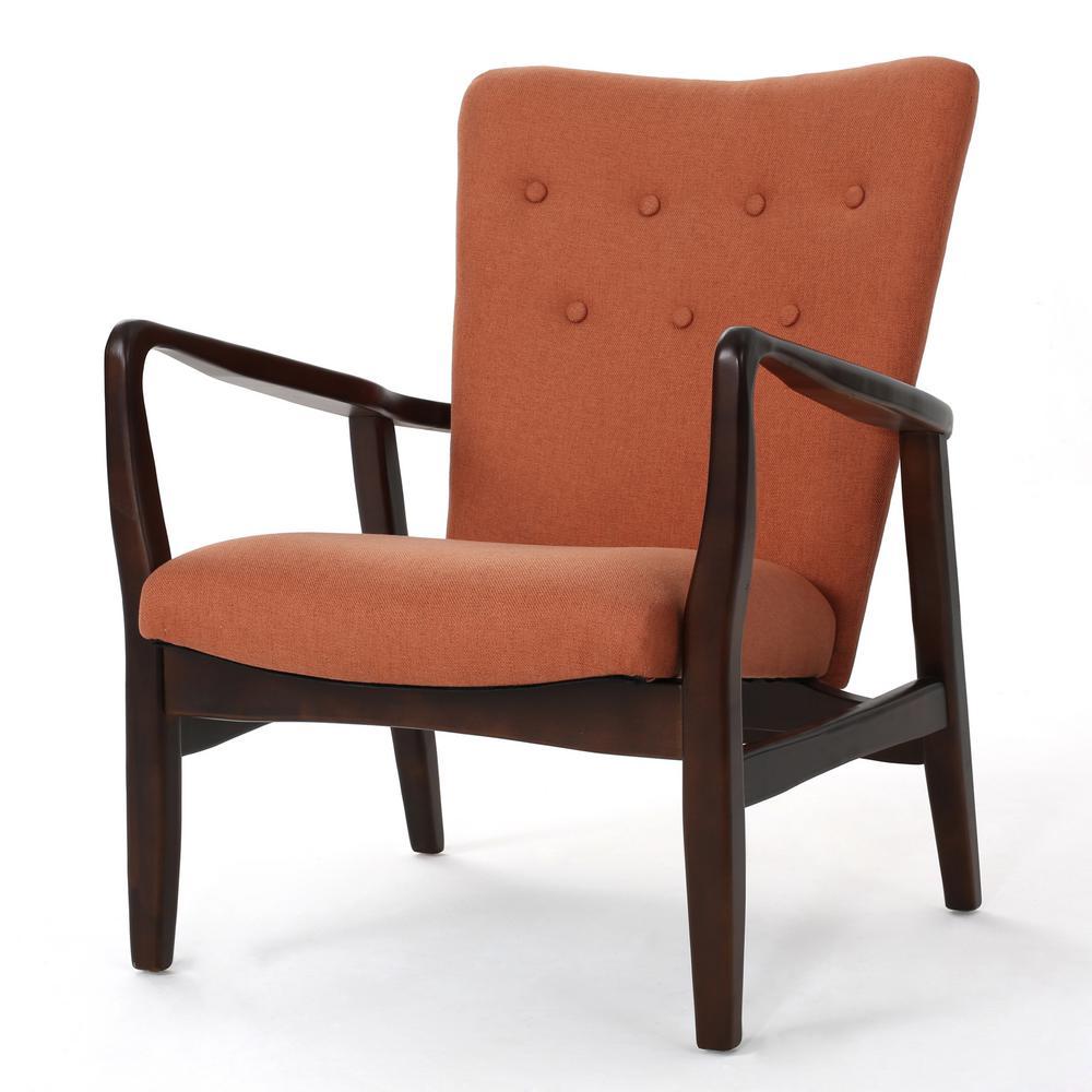 Becker Orange Fabric Arm Chair