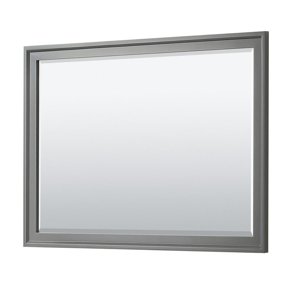 Tamara 46 in. W x 33 in. H Framed Wall Mirror in Dark Gray